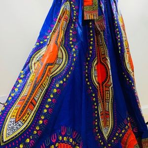 Multicolored African Skirt